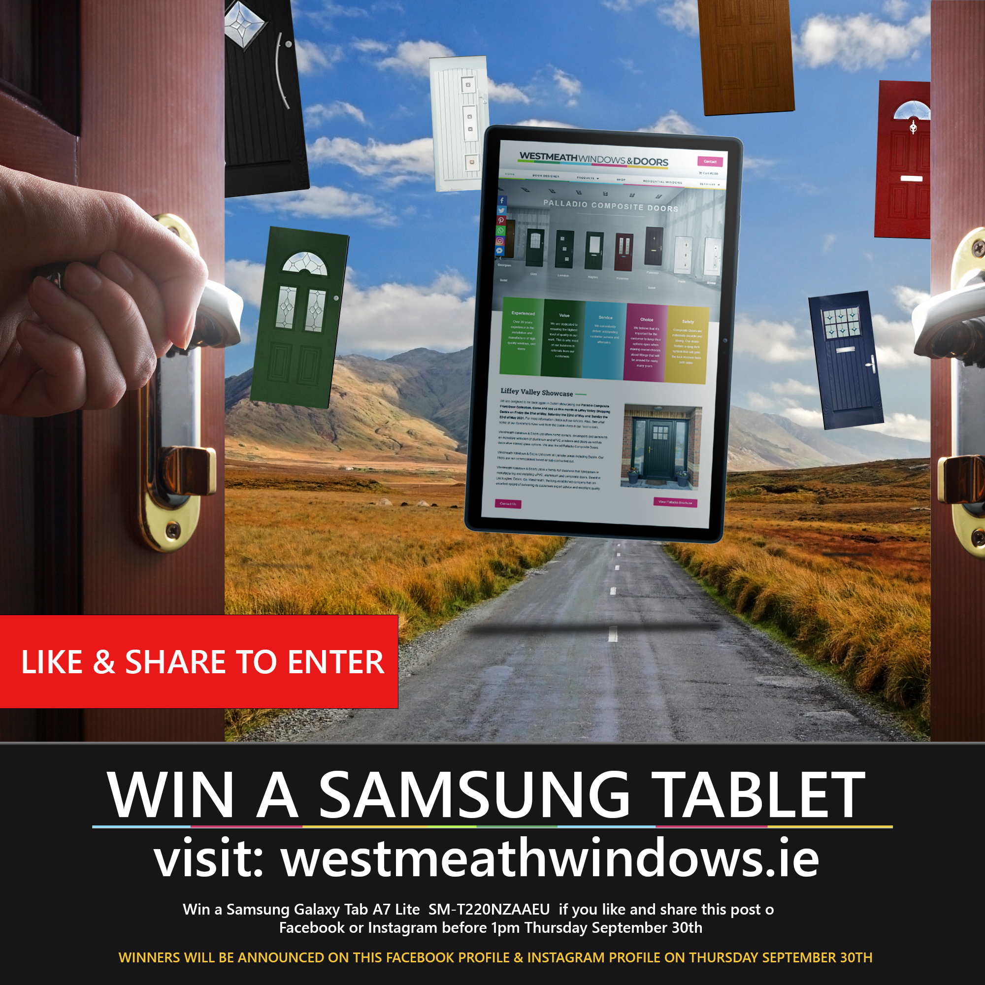 Win a Samsung tablet!
