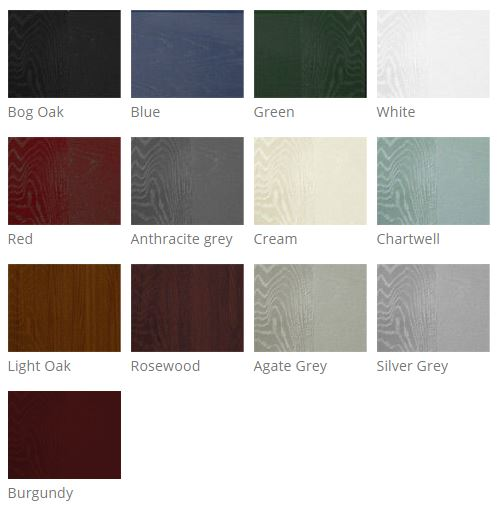Palladio composite doors are available in many colours.